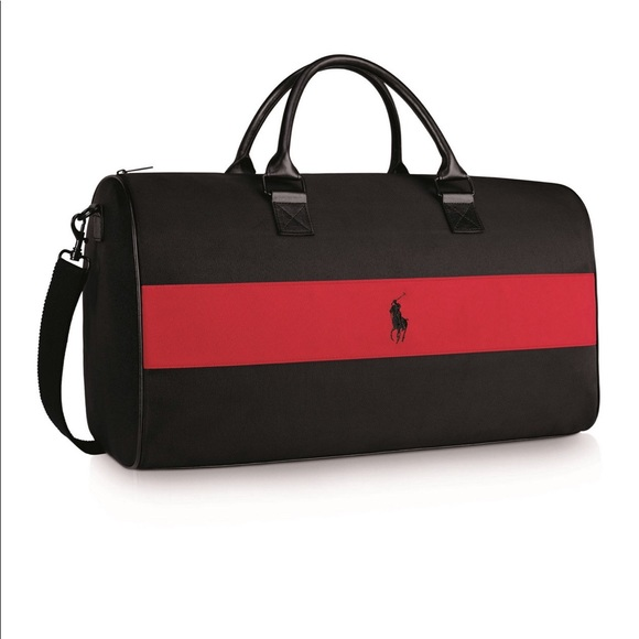 Ralph Lauren Polo Black Red Duffle Bag. M 5a7baf6633162786b5d87db3 e341003e12e2d
